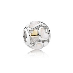 Pandora Luminous Hearts, Mother/Of/Pearl & 14K Gold