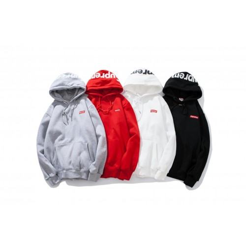 Supreme Letter Embroidery Hooded Sweatshirt