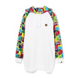 Bape Milo ABC Multi oversize hoodie White