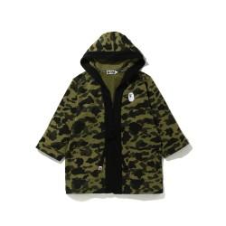 Bape 1st Camo kimono zip hoodie Army Green