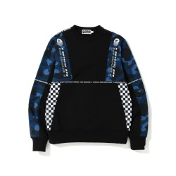 Bape Logo tape crewneck sweatshirt Black