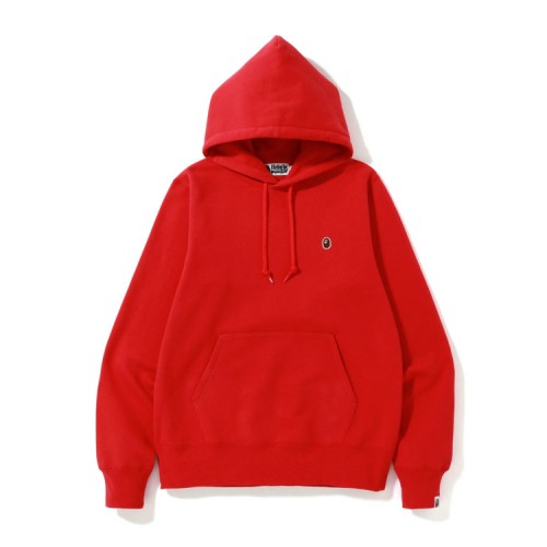 Bape One Point hoodie Bright Red