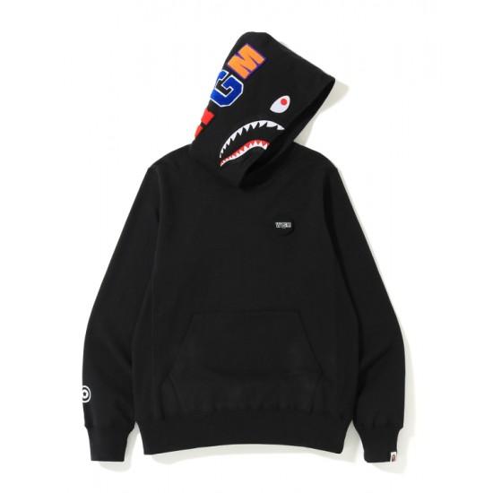 Bape Shark print hoodie Black