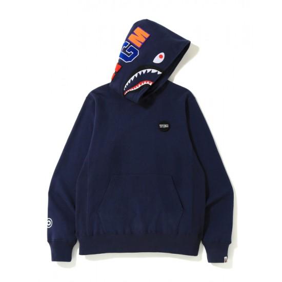 Bape Shark print hoodie Navy Blue
