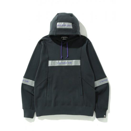 Bape Wide Patchwork hoodie Black