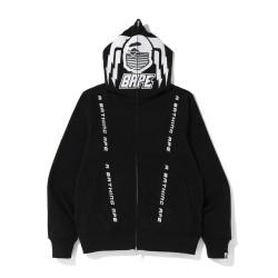 Bape Motor Sport fulle zip hoodie Black