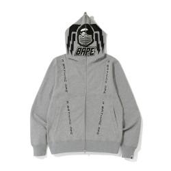 Bape Motor Sport fulle zip hoodie Grey