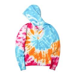 Bape Tie Dye Shark wide full zip hoodie Caise