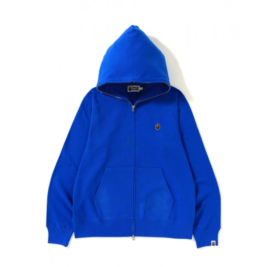 Bape Ape Head One Point full zip hoodie Blue
