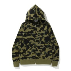 Bape 1st Camo full zip hoodie Army Green