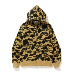 Bape 1st Camo full zip hoodie Mellow Yellow