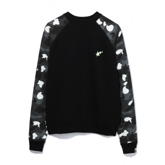 Bape City Camo Bapesta sweatshirt Black