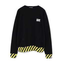 Bape Stripe Rib Wide sweatshirt Black