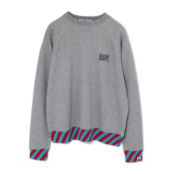 Bape Stripe Rib Wide sweatshirt Grey
