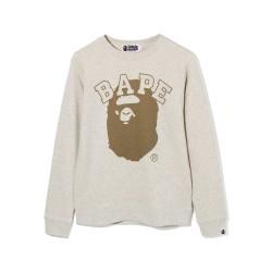 Bape Pigment Bape Ape Head sweatshirt Cracker Khaki
