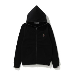 Bape One Point zip hoodie Black