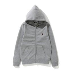 Bape One Point zip hoodie Grey