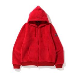 Bape Mr Boa zip hoodie Bright Red