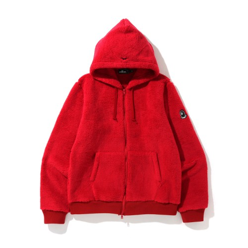 Bape Mr Boa zip hoodie Bright Red