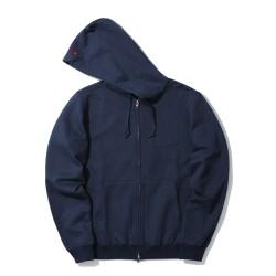 Bape Mr Bathing Ape Embroidery zip hoodie Navy Blue