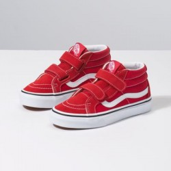 Vans Kids Shoes Kids Sk8-Mid Reissue V Red/True White