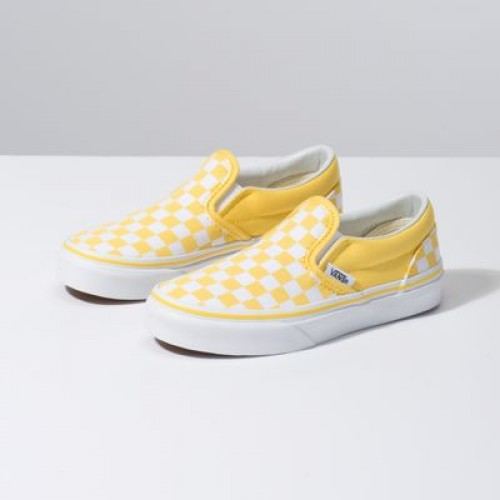 Vans Kids Shoes Kids Checkerboard Slip-On Aspen Gold/True White