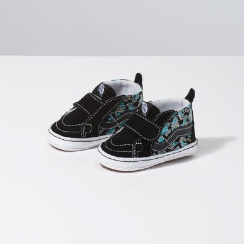 Vans Kids Shoes Infant Vanosaur Sk8-Hi Crib Black/True White