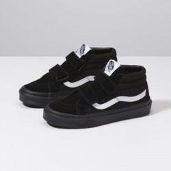 Vans Kids Shoes Kids Canvas Suede Sk8-Mid Reissue V black/black