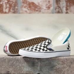 Vans Women Shoes Checkerboard Slip-On Pro Black/Off White