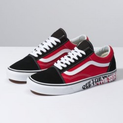 Vans Men Shoes OTW Sidewall Old Skool Black/Racing Red