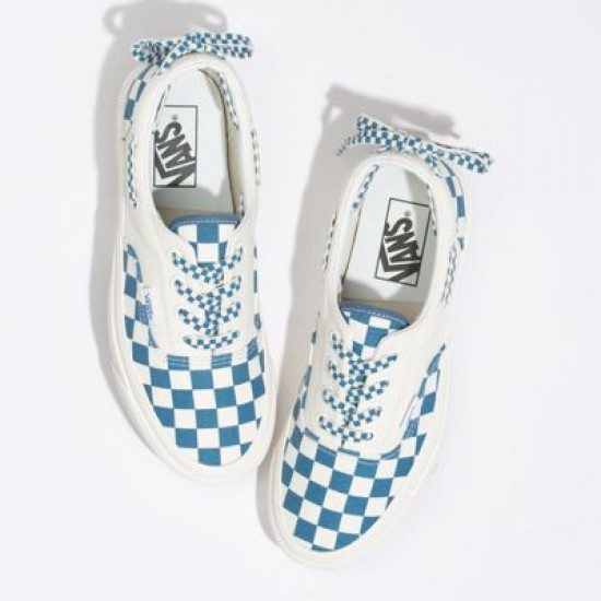 Vans Women Shoes Anaheim Factory Style 95 Lacey DX OG Blue/Checkerboard