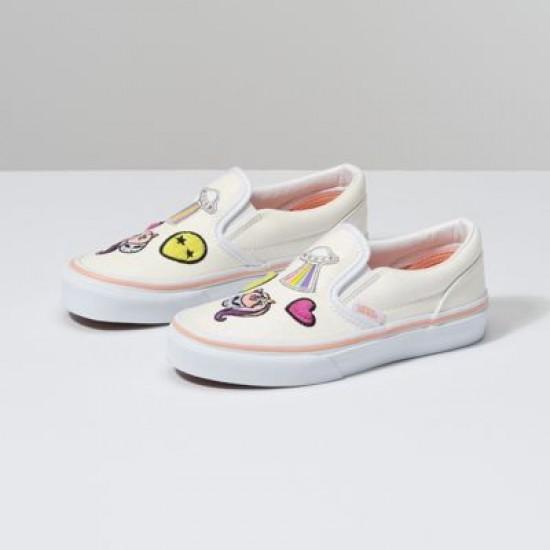 Vans Kids Shoes Kids Unicorn Alien Slip-On Glitter/True White