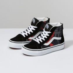 Vans Kids Shoes Kids Camo Sk8-Hi Zip Black/Racing Red