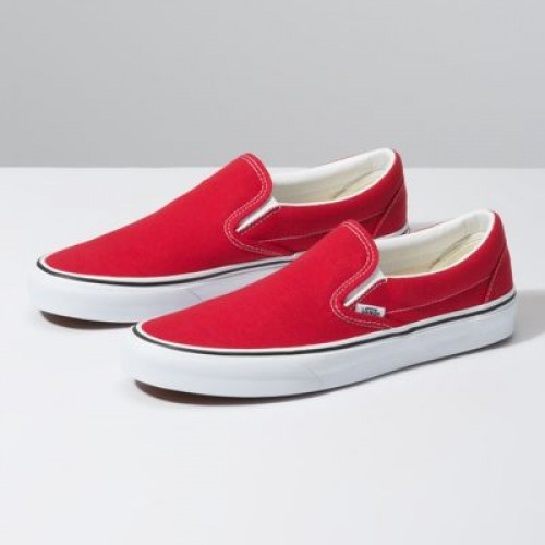 Vans Women Shoes Slip-On Racing Red