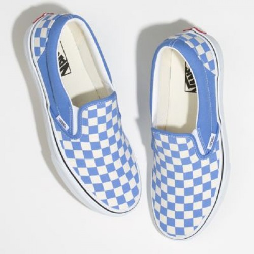 Vans Men Shoes Checkerboard Slip-On Ultramarine/True White
