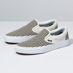Vans Men Shoes Denim Stripes Slip-On True White/Dress Blues