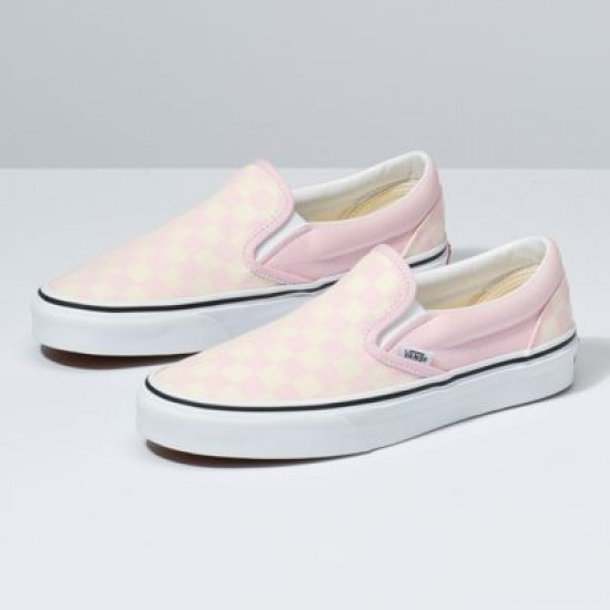 Vans Women Shoes Checkerboard Slip-On Blushing Bride/Classic White