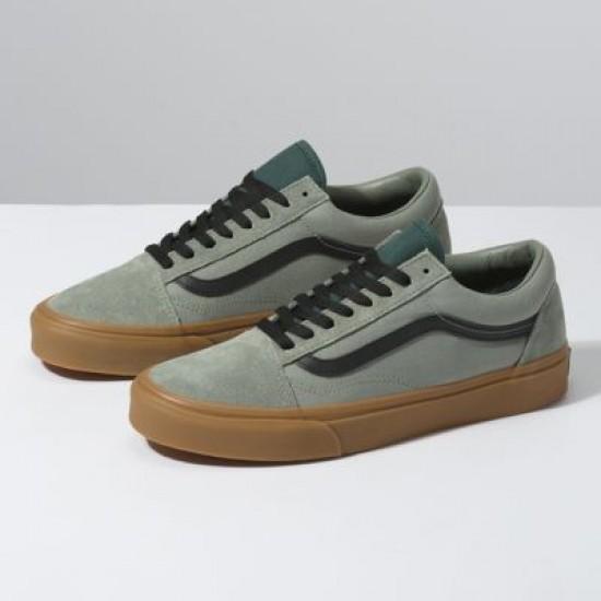 Vans Men Shoes Gum Old Skool Shadow/Trekking Green