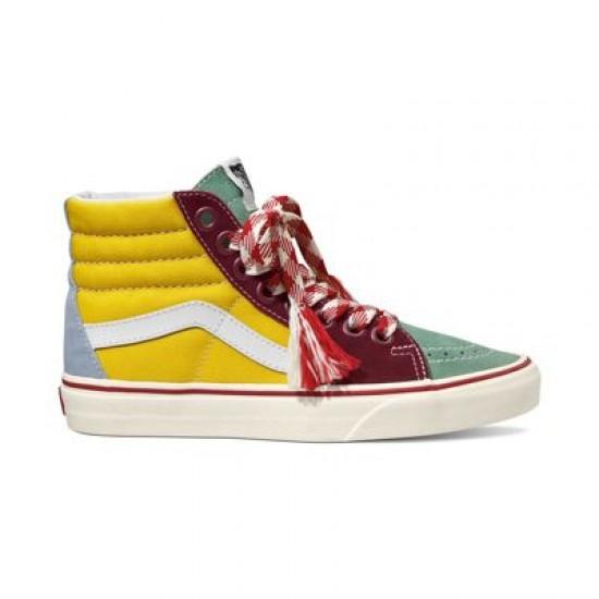 Vans Women Shoes Frayed Laces Sk8-Hi Creme De Menthe/Marshmallow