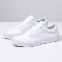 Vans Men Shoes Canvas Old Skool true white