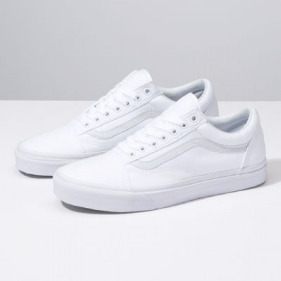 Vans Men Shoes Canvas Old Skool true white