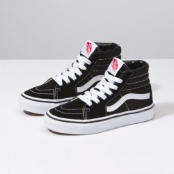 Vans Kids Shoes Kids Sk8-Hi Black/True White