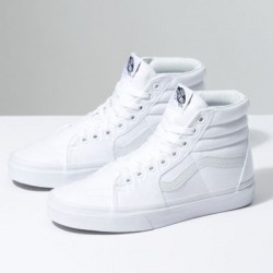 Vans Women Shoes Canvas Sk8-Hi True White