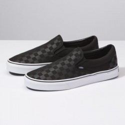 Vans Women Shoes Checkerboard Slip-On Black/Black Check