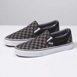 Vans Women Shoes Checkerboard Slip-On Black/Pewter Check