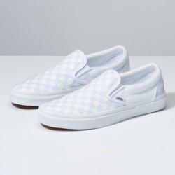 Vans Women Shoes Checkerboard Slip-On True White/True White