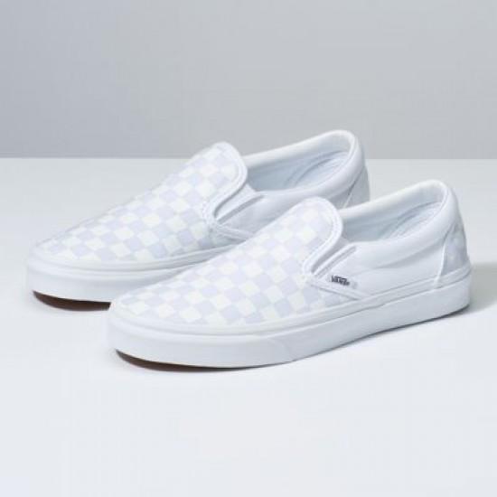 Vans Men Shoes Checkerboard Slip-On True White/True White