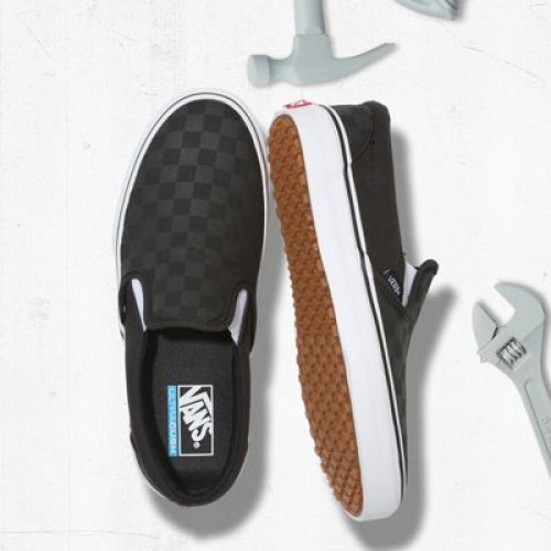 Vans Men Shoes Made For The Makers Slip-On UC Black/Checkerboard