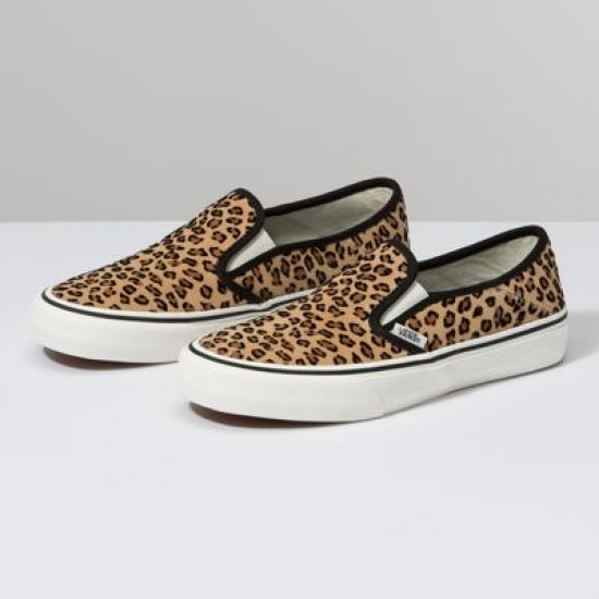 Vans Women Shoes Mini Leopard Slip-On SF Suede/Marshmallow