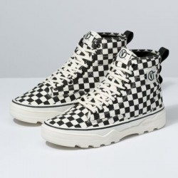 Vans Women Shoes Canvas Sentry WC Checkerboard/Marshamllow